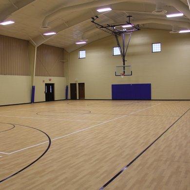 Pretty Lake Camp has indoor basketball