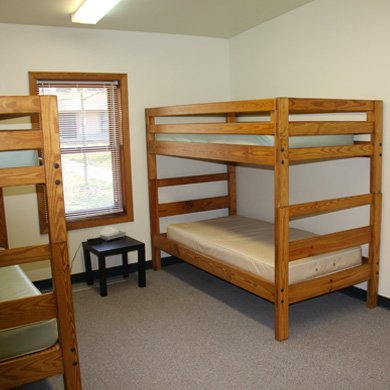 Pretty Lake Retreat Centre offers private bunk rooms