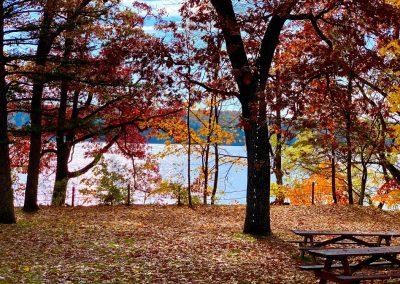 Pretty Lake Camp has beautiful Fall colors