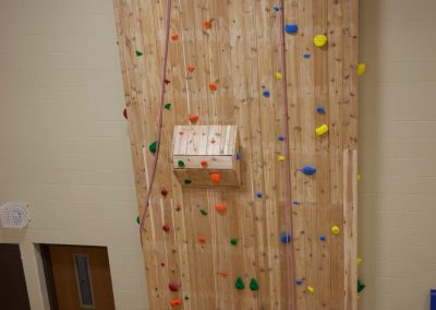 Pretty Lake Camp offers indoor rock wall