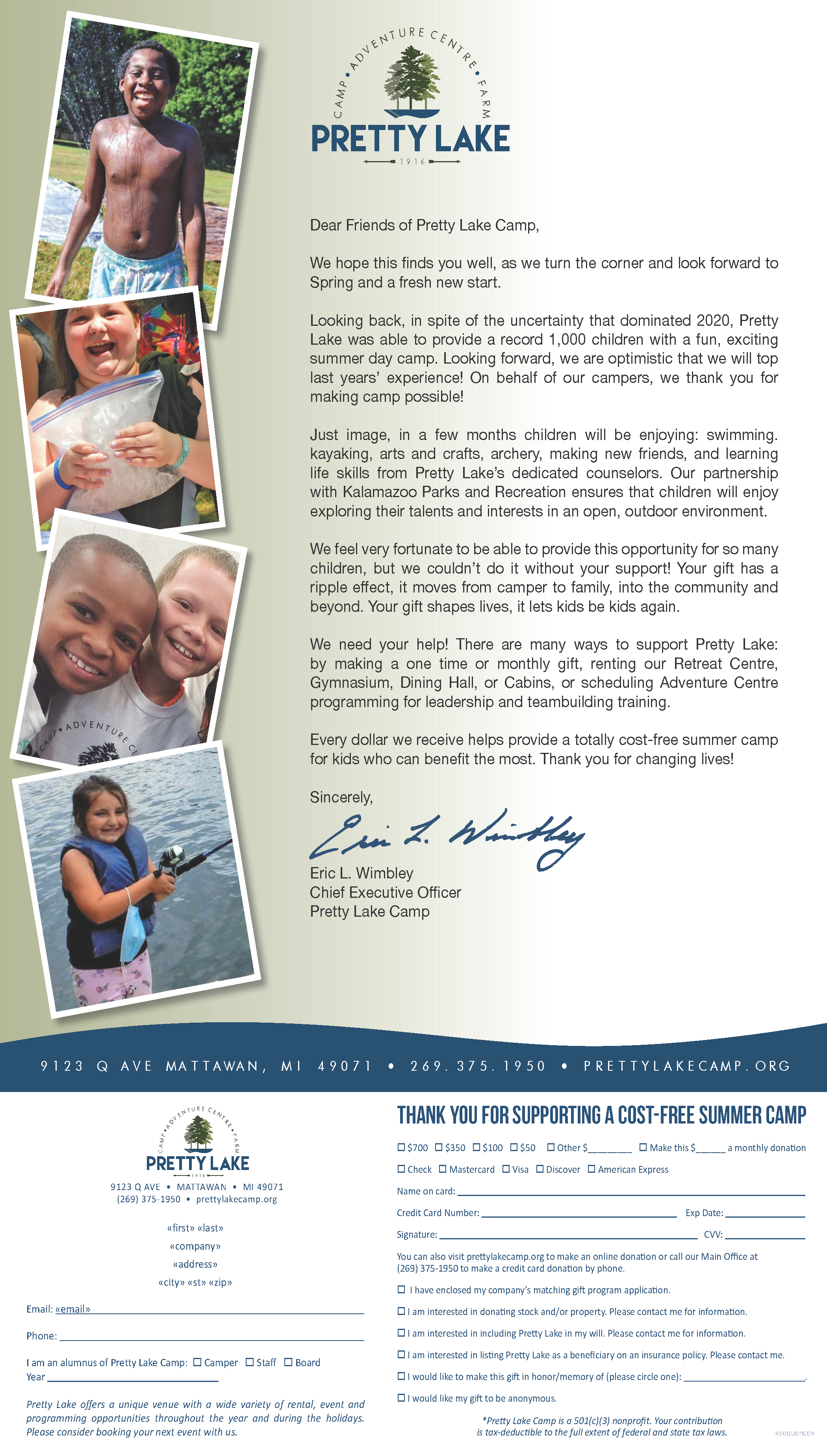 Pretty Lake Spring Appeal Letter